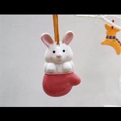 SEASONAL Rabbit Ornament/12 SPO