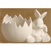 SEASONAL BUNNY CRACKED EGG CANDLE/8 SPO