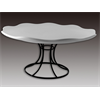 PLATES Curvy Cake Plate With Stand/4 SPO