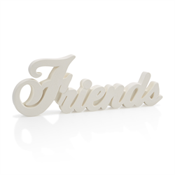 TILES, ETC. FRIENDS WORD PLAQUE/6 SPO