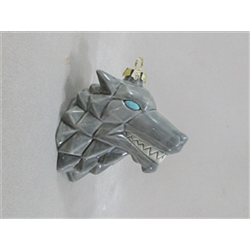 SEASONAL Origami Wolf Ornament/6 SPO
