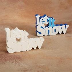 TILES, ETC. LET IT SNOW WORD PLAQUE/6 SPO