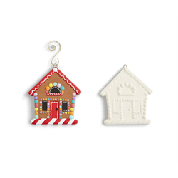 SEASONAL GINGERBREAD HOUSE ORNAMENT/24 SPO