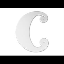 """TILES & PLAQUES 8"""" Curvy Letter C /1 SPO"""