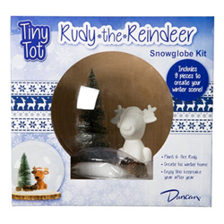 SEASONAL Reindeer Snowglobe Kit/4 SPO