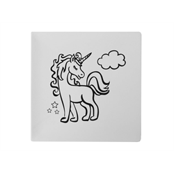 PLATES Pretty Unicorn Plate/6 SPO