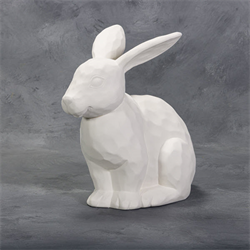 Sitting Carved Rabbit (Head Only) SPO