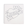 "TILES & PLAQUES Mom Heart Party Tile  6""/12 SPO"