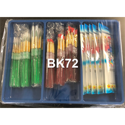72 pc. Kids Soft Handle Brush Set