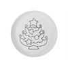 PLATES Hand Detailed Christmas Tree Party Plate/6 SPO