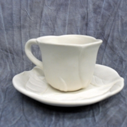 MUGS FLOWER TEACUP/6 SPO