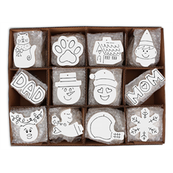 SEASONAL Hand Detailed Party Ornaments Kit A/144