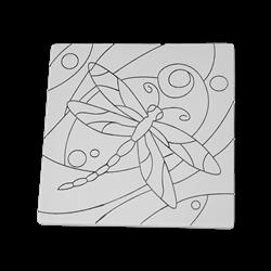 """TILES & PLAQUES Dragonfly Party Tile 6""""/12 SPO"""