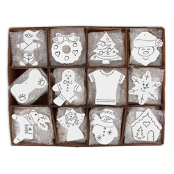 SEASONAL Hand Detailed Party Ornaments Kit B/144