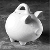 BANKS Small Piggy Bank w/handle/6 SPO