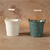 KITCHEN BUCKET W/METAL & WOOD HANDLE/4 SPO