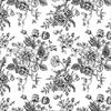 Black Flower Peony and Rose Underglaze Decal/1 SPO