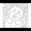 Reusable Pattern (6 pack) - Leaf Pile Pup/1 SPO