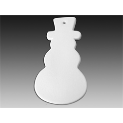 SEASONAL Flat Snowman Ornament/12 SPO