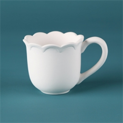 MUGS SCALLOPED MUG/12 SPO