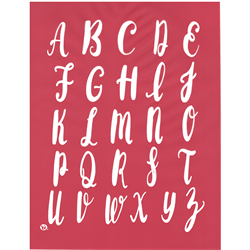 Upper Case Calligraphy Silkscreen/1 SPO