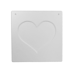 TILES, ETC. Inset Heart Plaque/6 SPO