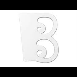 """TILES & PLAQUES 8"""" Curvy Letter B /1 SPO"""