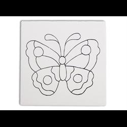 """TILES & PLAQUES Butterfly Party Tile 6""""/12 SPO"""