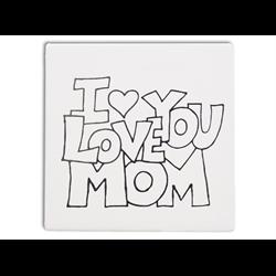 "TILES & PLAQUES.I Love You Mom Party Tile  6""/12 SPO"