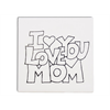 "TILES & PLAQUES.I Love You Mom Party Tile  6""/12 SPO"