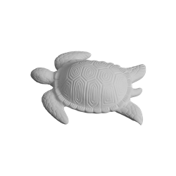 TILES, ETC. Contemporary Sea Turtle Plaque/4 SPO