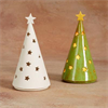 HOME DÉCOR CONE TREE VOTIVE/4 SPO