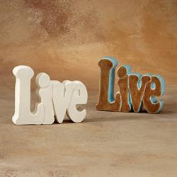 TILES, ETC. LIVE WORD PLAQUE/6 SPO