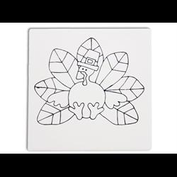 """TILES & PLAQUES Turkey Partyy Tile 6""""/12 SPO"""