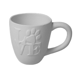 MUGS Love Paw Print Mug/6 SPO