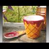 MUGS Ice Cream Bowl/ Spoon/4 SPO