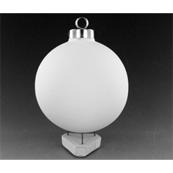 "SEASONAL 3"" Silver Cap Ball Ornament/12 SPO"