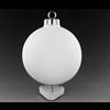 "SEASONAL 3"" Silver Cap Ball Ornament/12 SPO"
