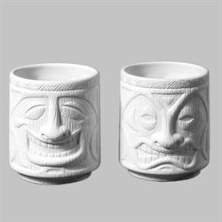 MUGS Tiki Cups, 2 Designs/4 SPO