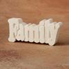 HOME DÉCOR FAMILY - SMALL WORD PLAQUE/8 SPO