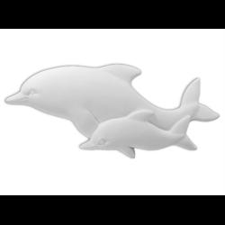TILES, ETC. Dolphin Plaque/6 SPO