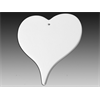 SEASONAL Flat Heart Ornament/12 SPO
