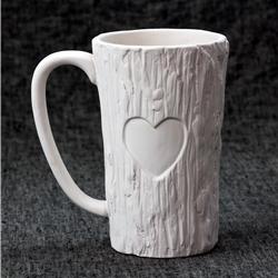 MUGS Tall Wood Mug w/ Heart/6 SPO