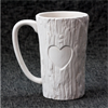 MUGS Tall Wood Mug w/ Heart/6 SPO