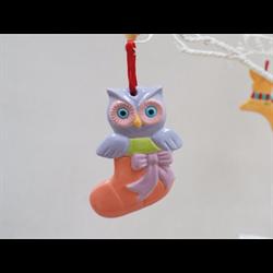 SEASONAL Cute Owl Ornament/12 SPO