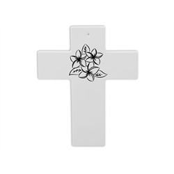 TILES & PLAQUES Plumeria Cross/8 SPO