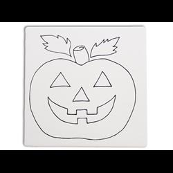 "TILES & PLAQUES Jack-O-Lantern Party Tile 6""/12 SPO"