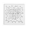 "TILES & PLAQUES Super Dad Party Tile 6""/12 SPO"