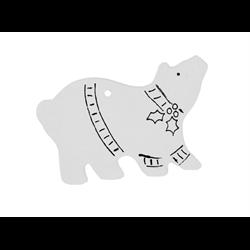 SEASONAL Hand Detailed Polar Bear Party Ornament/12 SPO