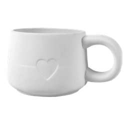 MUGS Modern Heart Mug/6 SPO